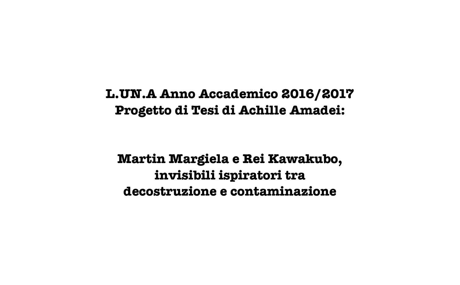 Progetto di tesi by Achille Amadei issuu