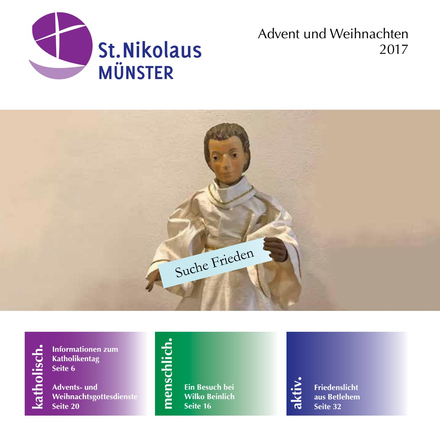 Weihnachtspfarrbrief 2017 by St. Nikolaus Münster - issuu