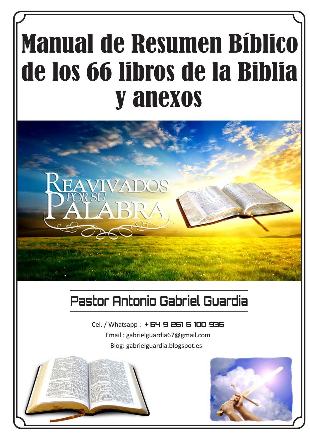Manual de Resumen Bíblico de los 66 libros de la Biblia by