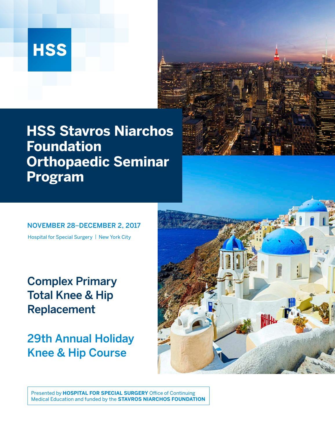 HSS Stavros Niarchos Foundation Orthopaedic Seminar Program