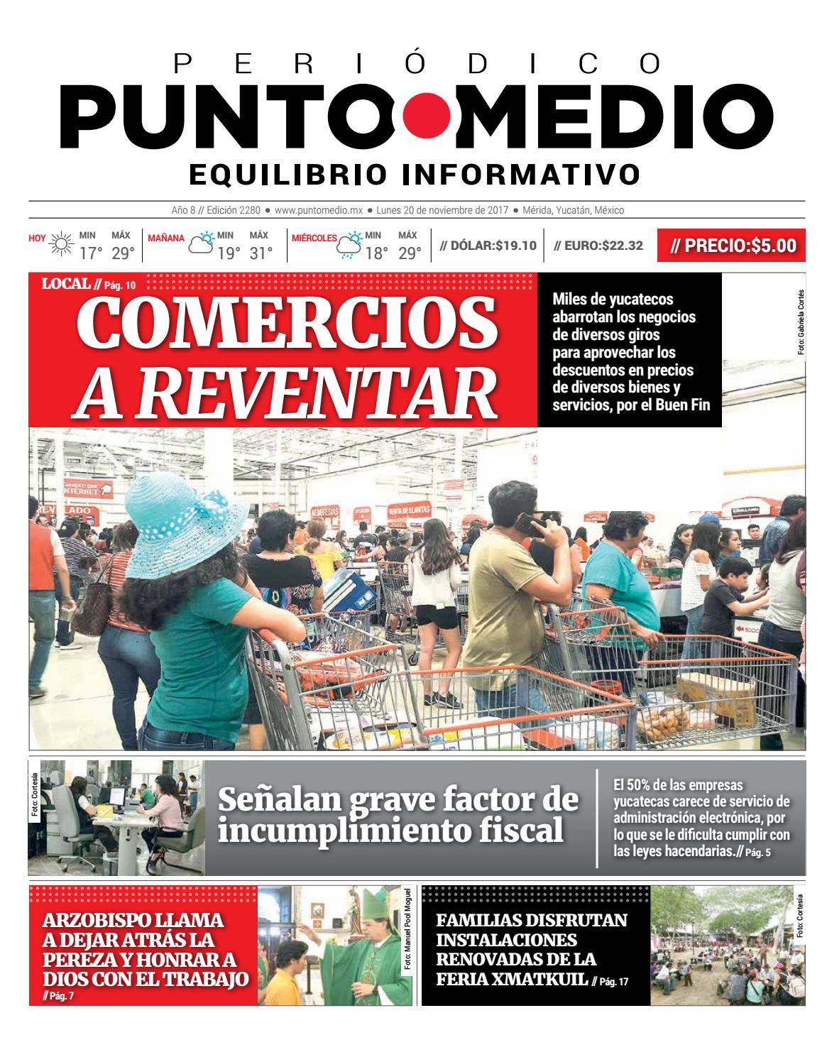 Edición impresa lunes 20 de noviembre de 2017 by Punto Medio - issuu