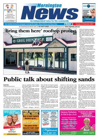 21 november 2017 by mornington peninsula news group issuu page 1 fandeluxe Choice Image