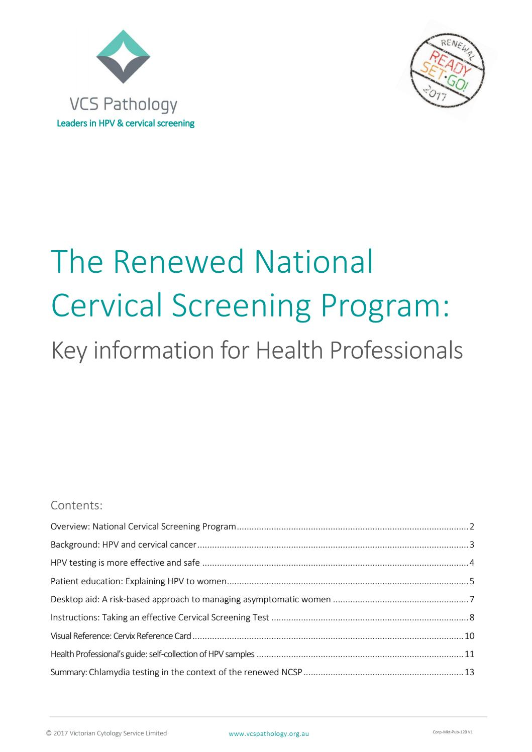 Renewal key information for health professional final 17120 by