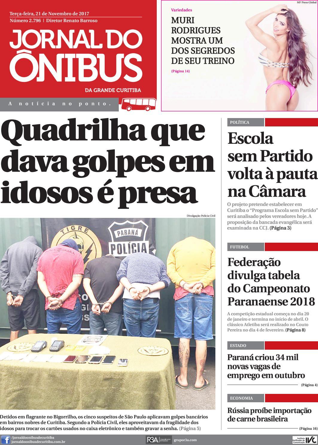 84cbd2180fa05 Jornal do Ônibus de Curitiba - 21 11 17 by Editora Correio Paranaense -  issuu