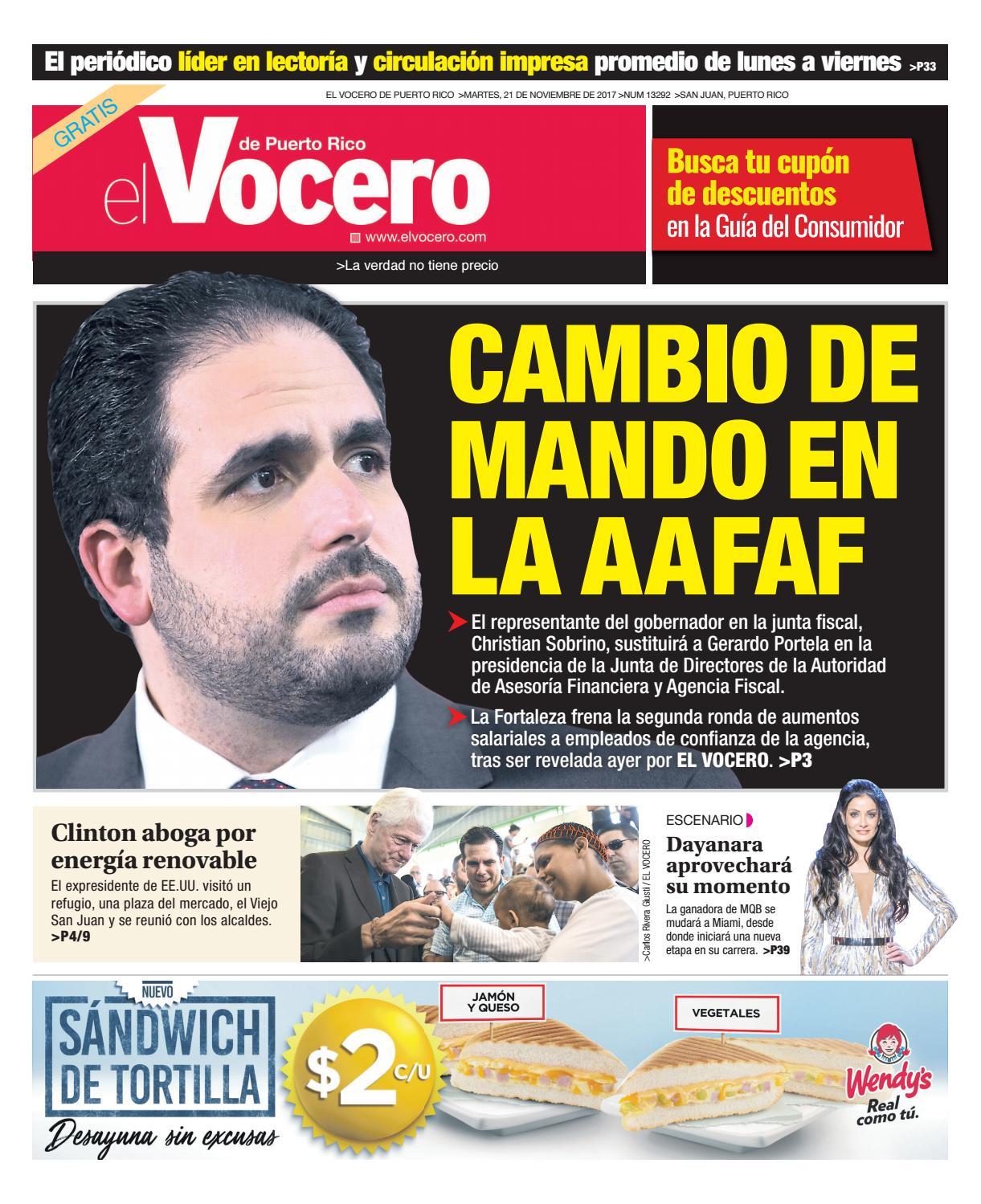 Edici N Del 21 De Noviembre De 2017 By El Vocero De Puerto Rico  # Ahorro Muebles Caguas Direccion