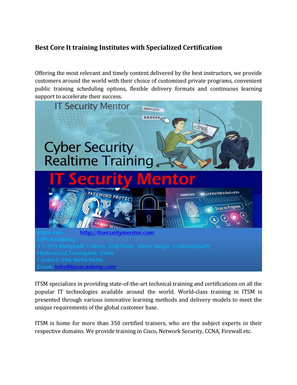 Best Core It Training Institutes With Specialized Certification By