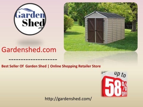 Top Quality Garden Sheds, Timber Sheds Online at Reasonable