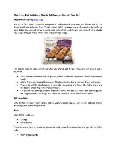 gluten free diet guidelines