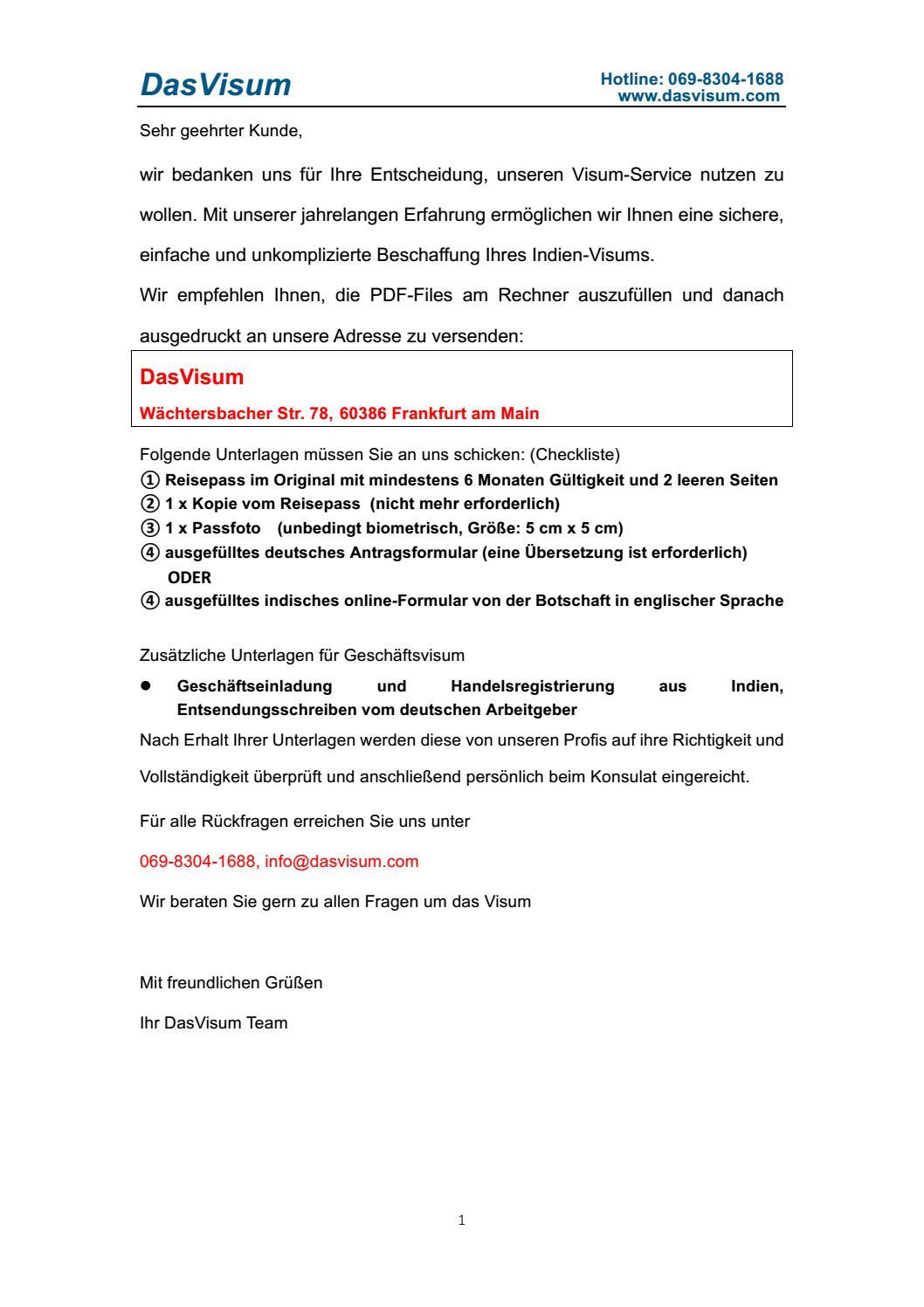 Indien neues antragsformular by tim111 - issuu
