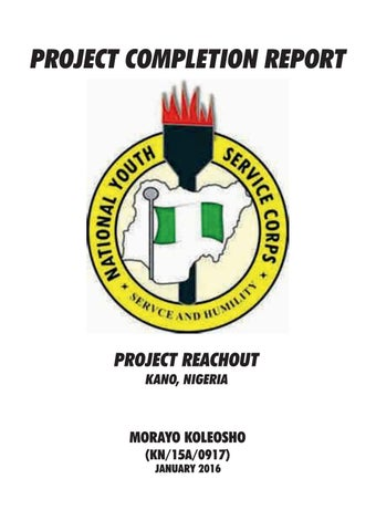 Project Completion Report  Project Reachout By Morayokl  Issuu