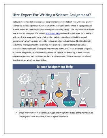 expert advice for writing a science assignment by berney mccol   issuu expert advice for writing a science assignment