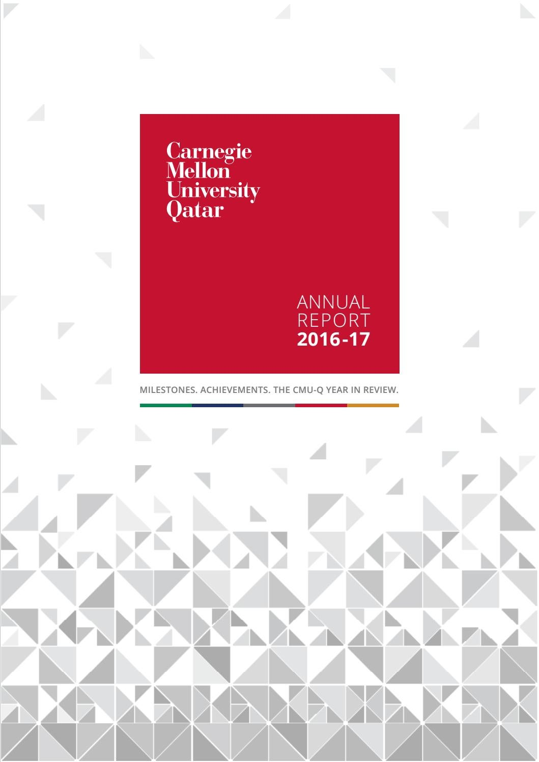 Annual report 2016-2017 by Carnegie Mellon University in