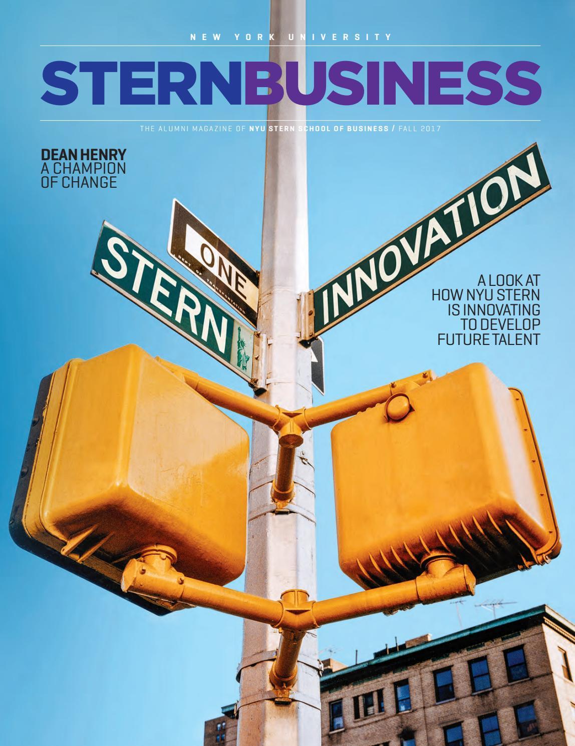 Sternbusiness Fall 2017 By Nyu Stern Issuu