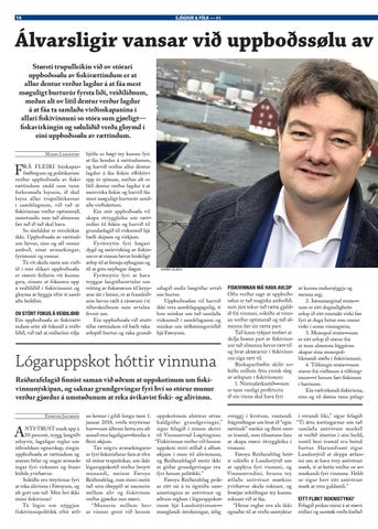Page 14 of Álvarsligir vansar við uppboðssølu av fiskirættindum
