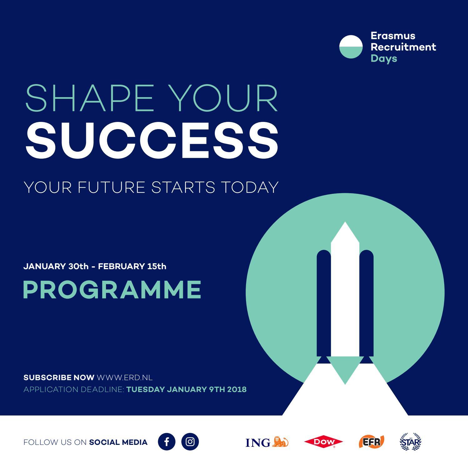 ERD 2018 Programme Booklet by Erasmus Recruitment Days - issuu