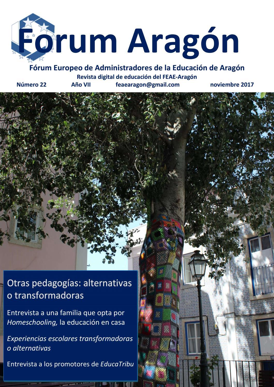 Forum Aragon 22 Otras pedagogías alternativas o transformadoras by Revista  Forum Aragón - issuu