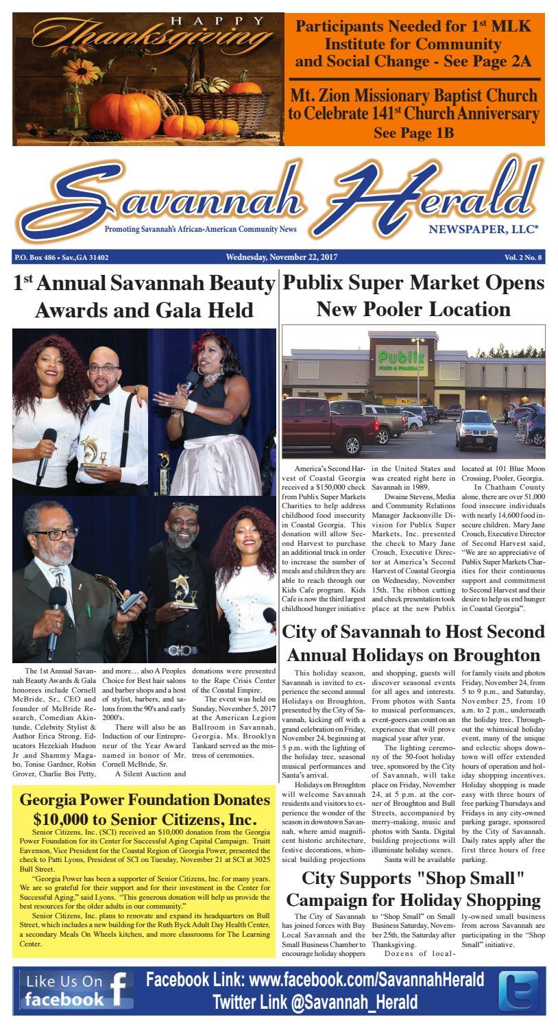 Savannah Herald Newspaper (11-22-17) by Savannah Herald Newspaper ...