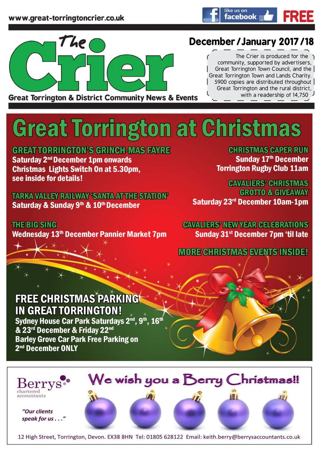 December January Crier 2017 by The Torrington Crier - issuu