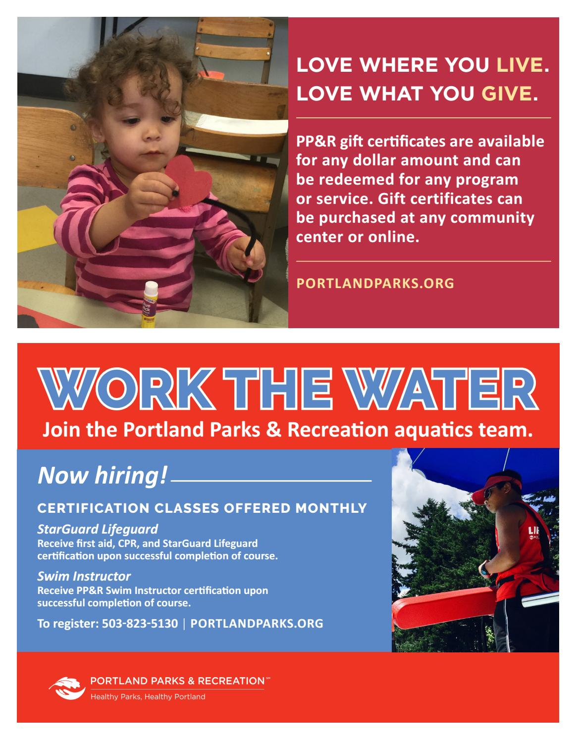 Laurelhurst Dance Studio Winter Activities 2018 By Portland Parks