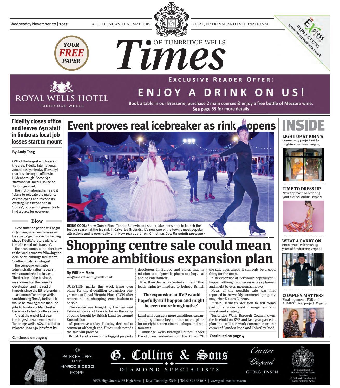 eefde96bbe594 Times of Tunbridge Wells 22nd November 2017 by One Media - issuu