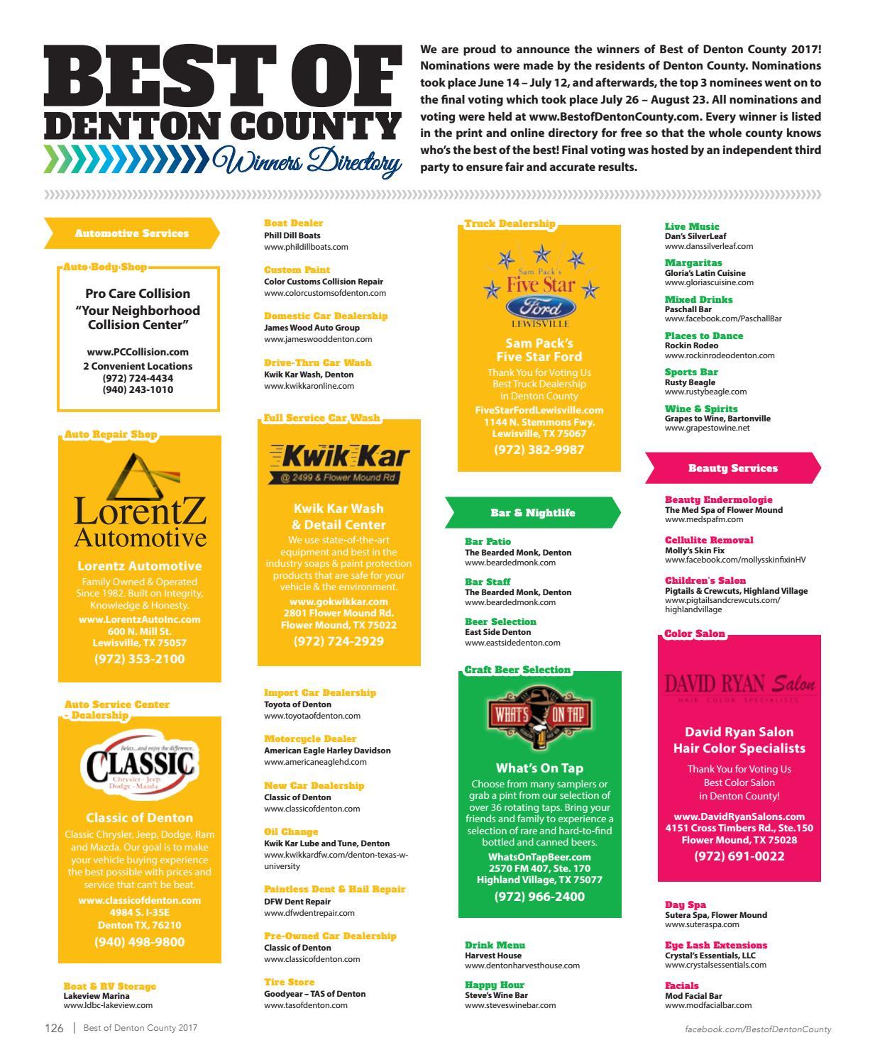 Best Of Denton County 2017 By Murray Media Publishing Issuu