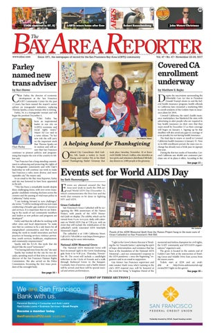 November 23 2017 Edition Of The Bay Area Reporter By Bay Area