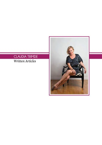 on sale b8737 24fcf Claudia trimde written articles by Claudia Trimde - issuu