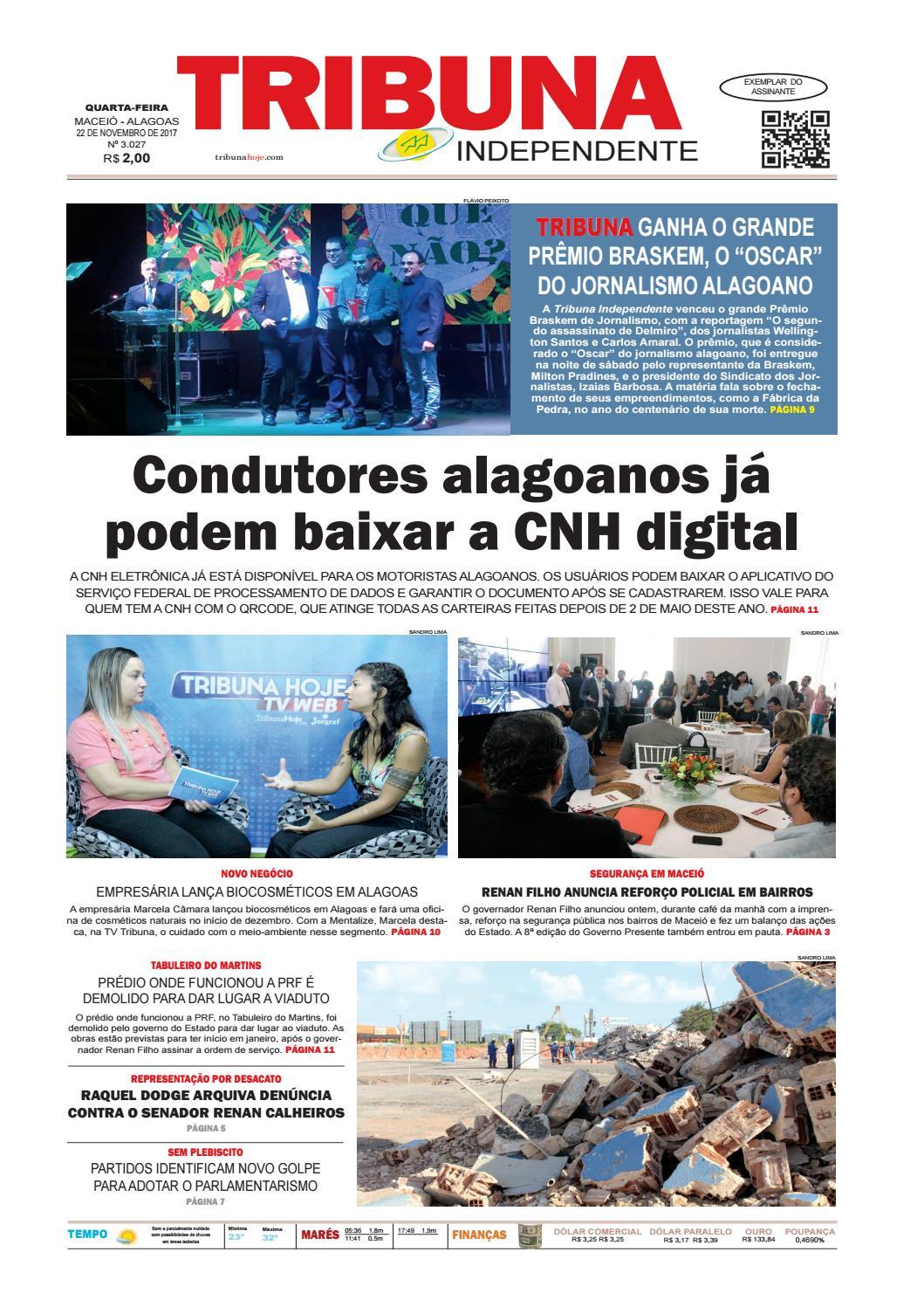 e7b5f8513a1 Edição número 3027 - 22 de novembro de 2017 by Tribuna Hoje - issuu