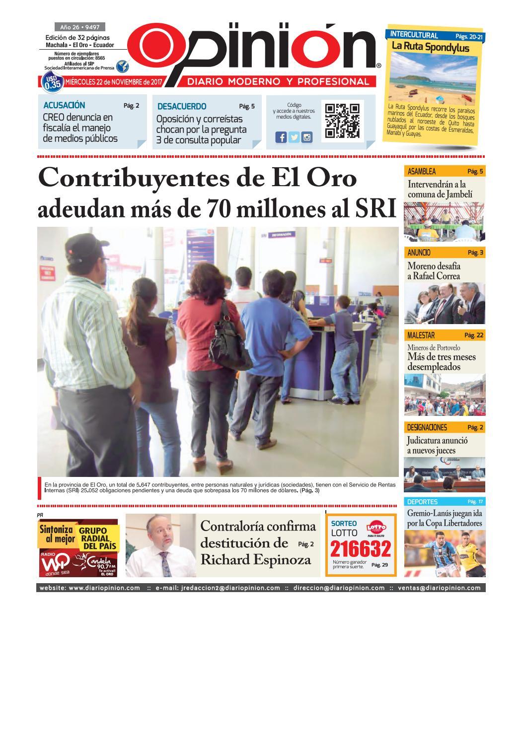 52bc2d1004e5 Impreso 22 11 17 by Diario Opinion - issuu