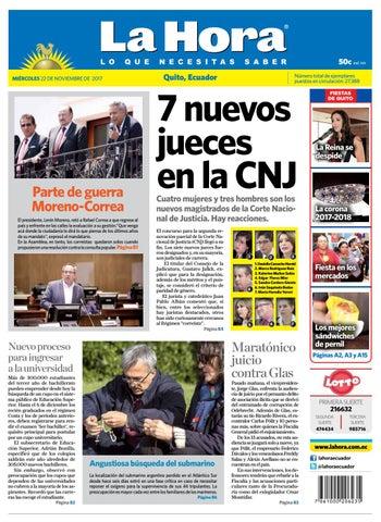 da385061179c Quito 22 de noviembre de 2017 by Diario La Hora Ecuador - issuu