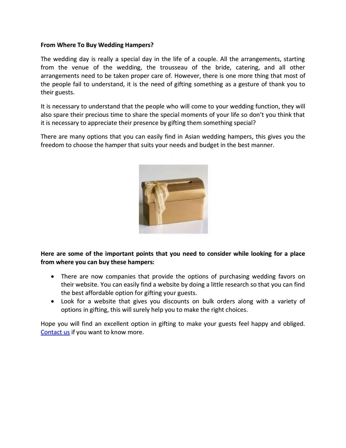 From where to buy wedding hampers by Nathaniel Perkins - issuu