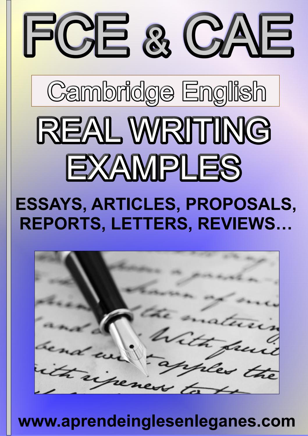 fce cae real writing examples preview 2 by ardhw setyhws issuu