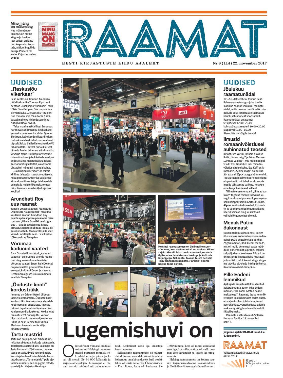d9b30e7c13f Ajaleht RAAMAT nr 114 (november 2017) by Kaidi Urmet - issuu