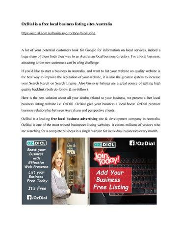 Local business listing sites australia