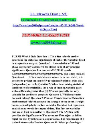 BUS 308 Week 1 Quiz (ANSWER KEY)