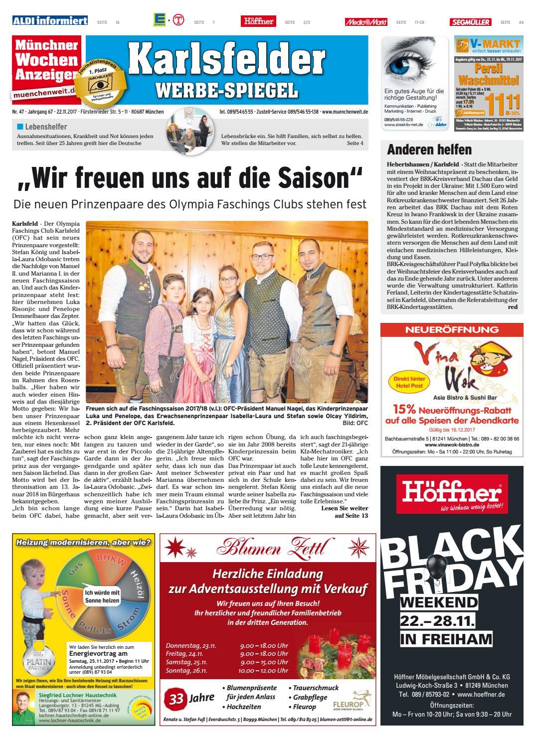 KW 47-2017 by Wochenanzeiger Medien GmbH - issuu