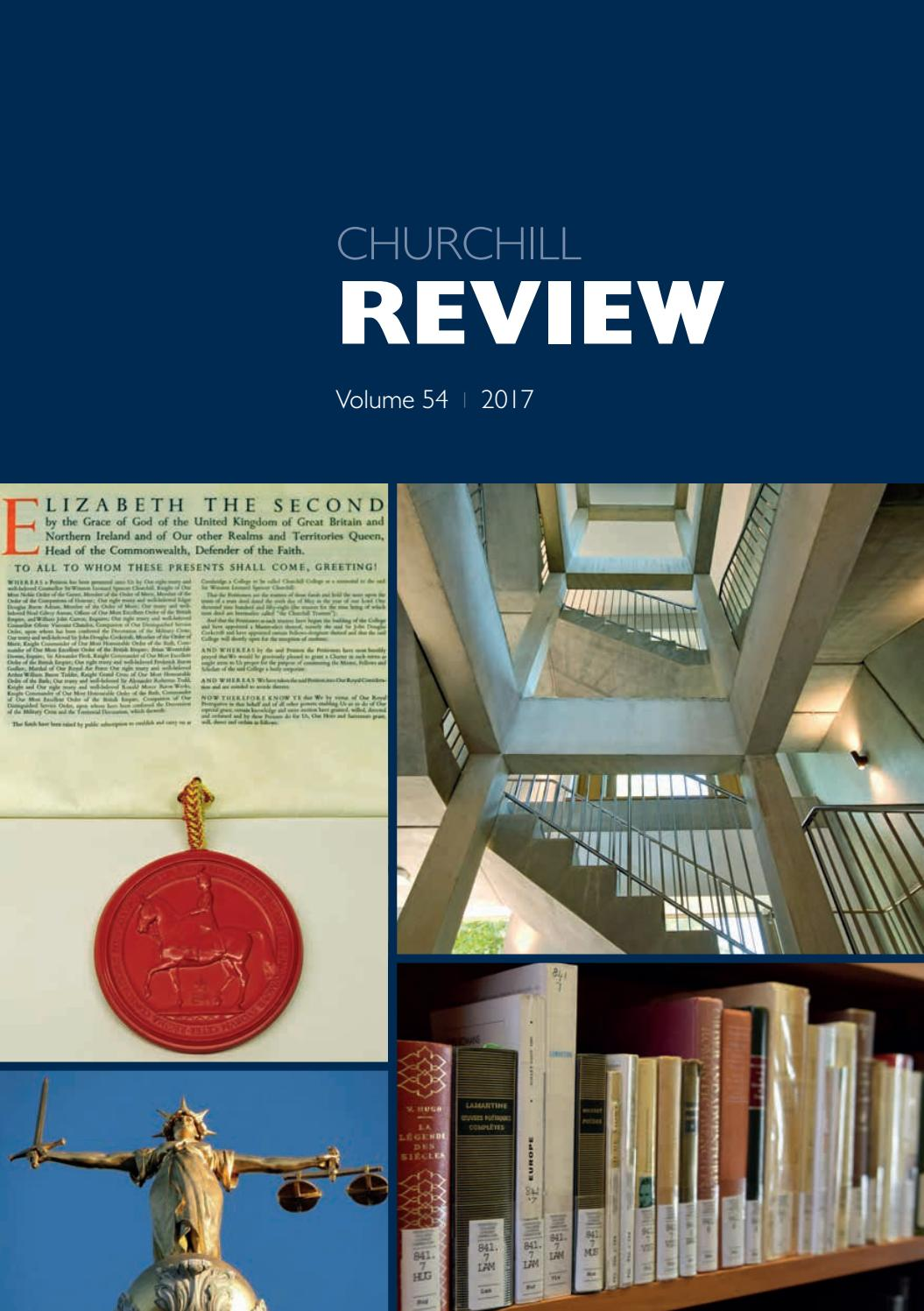 4d6284ced Churchill Review 2017 by Churchill College - issuu
