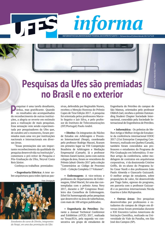b5f7706a1ab03 Jornal Informa   Ufes   n° 529   20 11 2017 by Universidade Federal do  Espírito Santo - issuu
