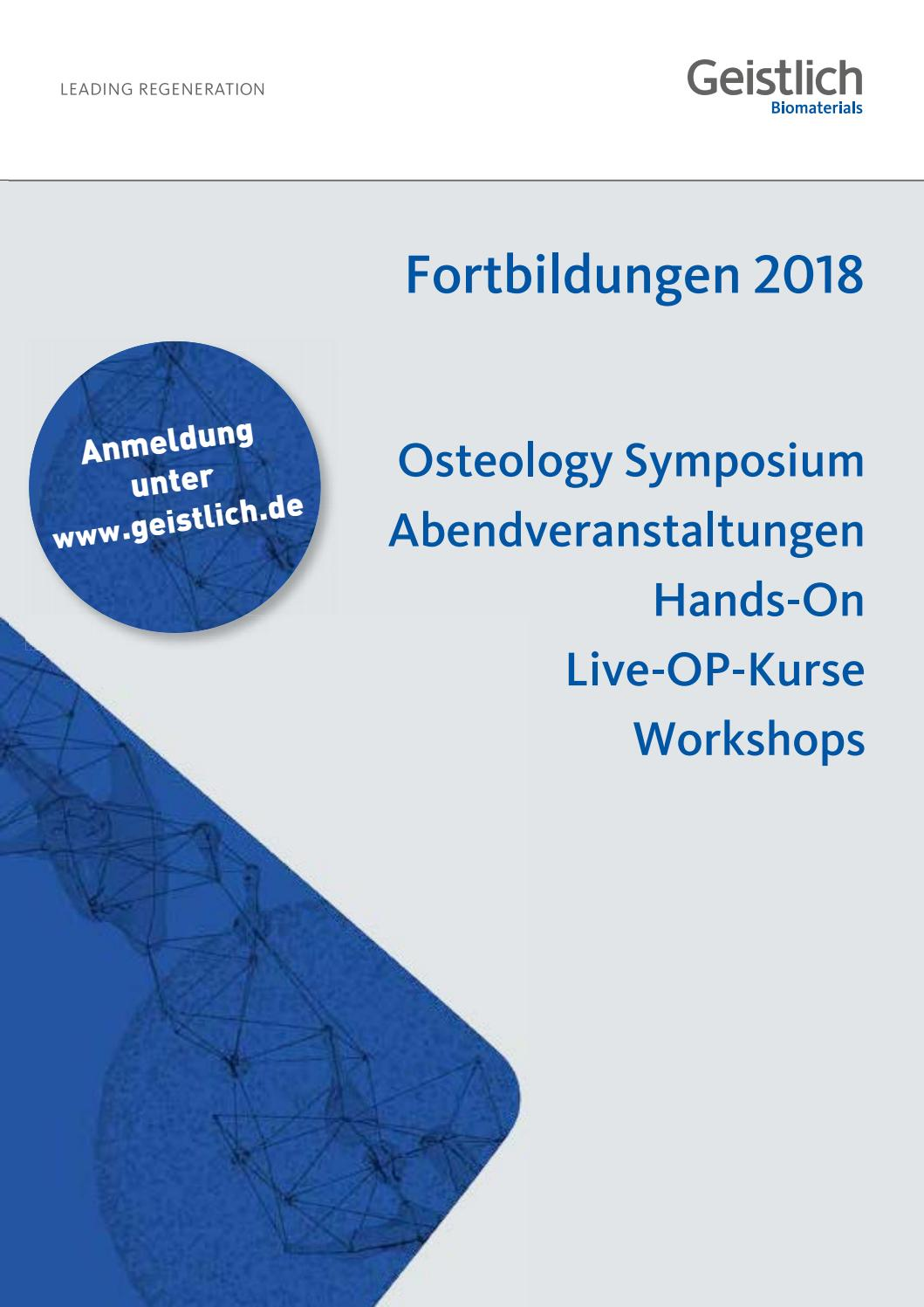 Kursprogramm 2018 by Geistlich_Pharma - issuu