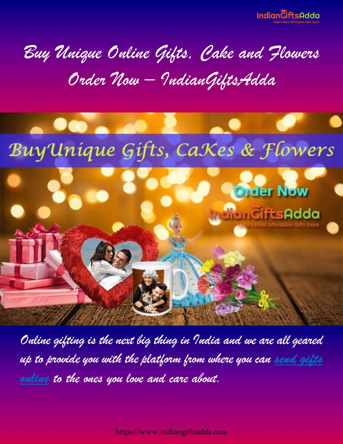 Buy Unique Online Gifts, Cake and Flowers | Order Now
