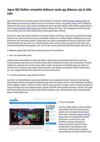Agen Qq Online Semakin Dahsyat Main Qq Dimana Aja Bila Saja By Productivefaith00 Issuu