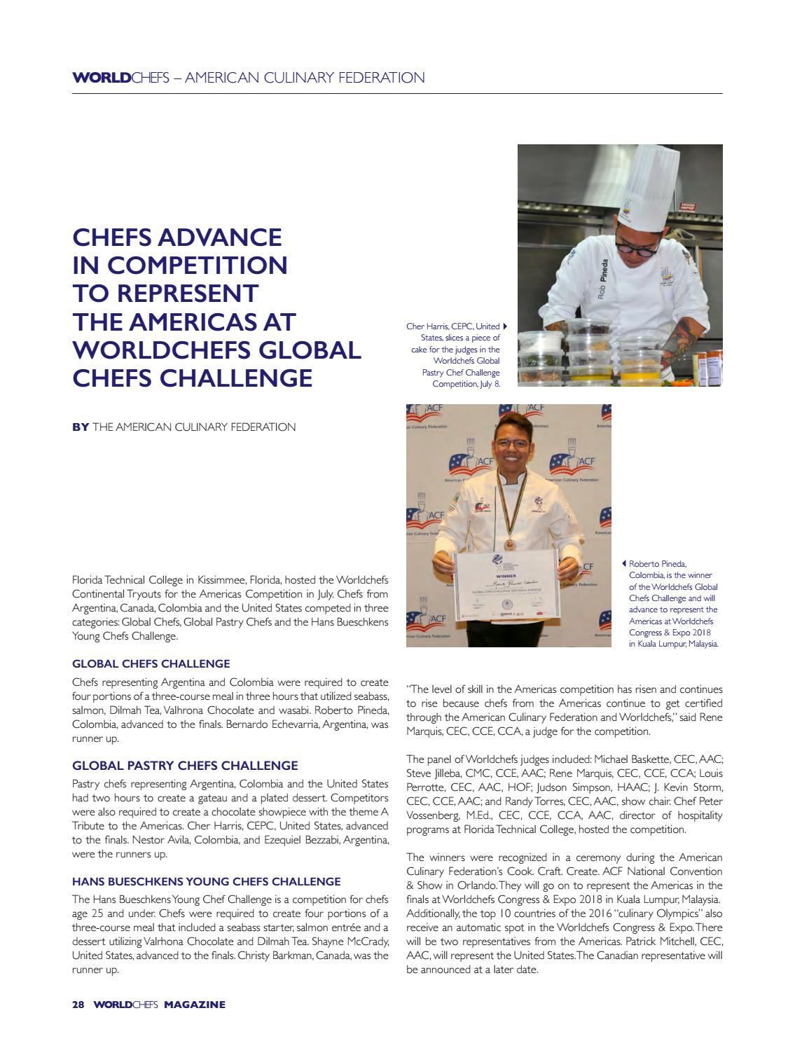 Worldchefs magazine issue 20 by World Association of Chefs