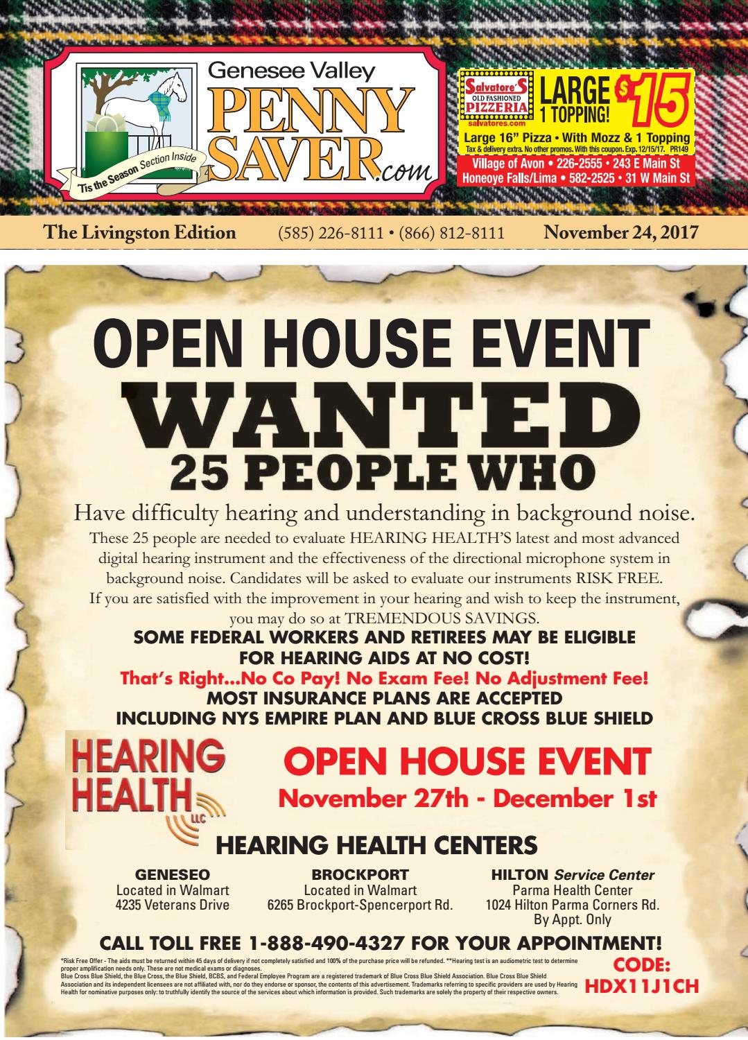 Livingston Edition of The Genesee Valley Penny Saver 11/24/17 by