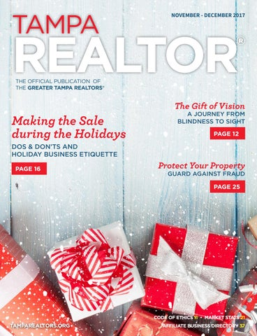 Tampa realtor magazine novemberdecember 2017 by greater tampa tampa negle Gallery