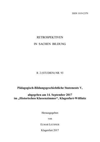 R. 2 (STUDIEN) NR. 93 by Österreichische Gesellschaft für ...