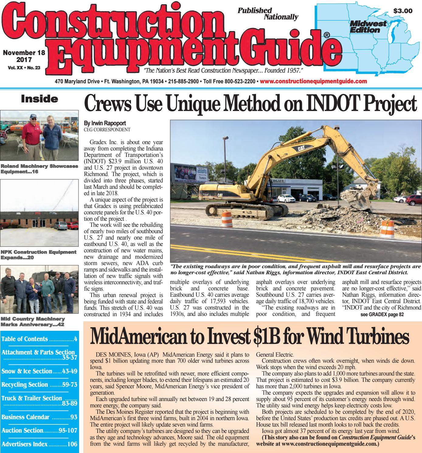 Midwest 23, November 18, 2017 by Construction Equipment