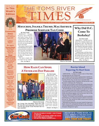 b3dba0f98c24 2017-11-25 - The Toms River Times by Micromedia Publications Jersey ...