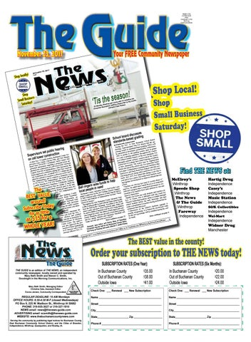 THE GUIDE 11 23 2017 by THE NEWS | Buchanan County Review