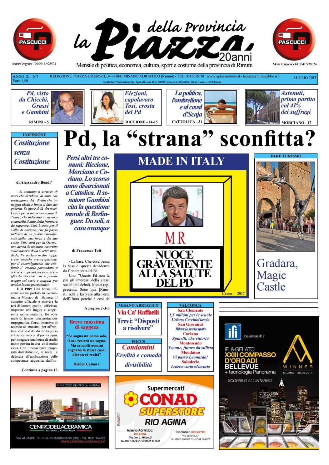 Luglio 2017 - La Piazza Rimini by La Piazza della Provincia - issuu 0d773296d8a7