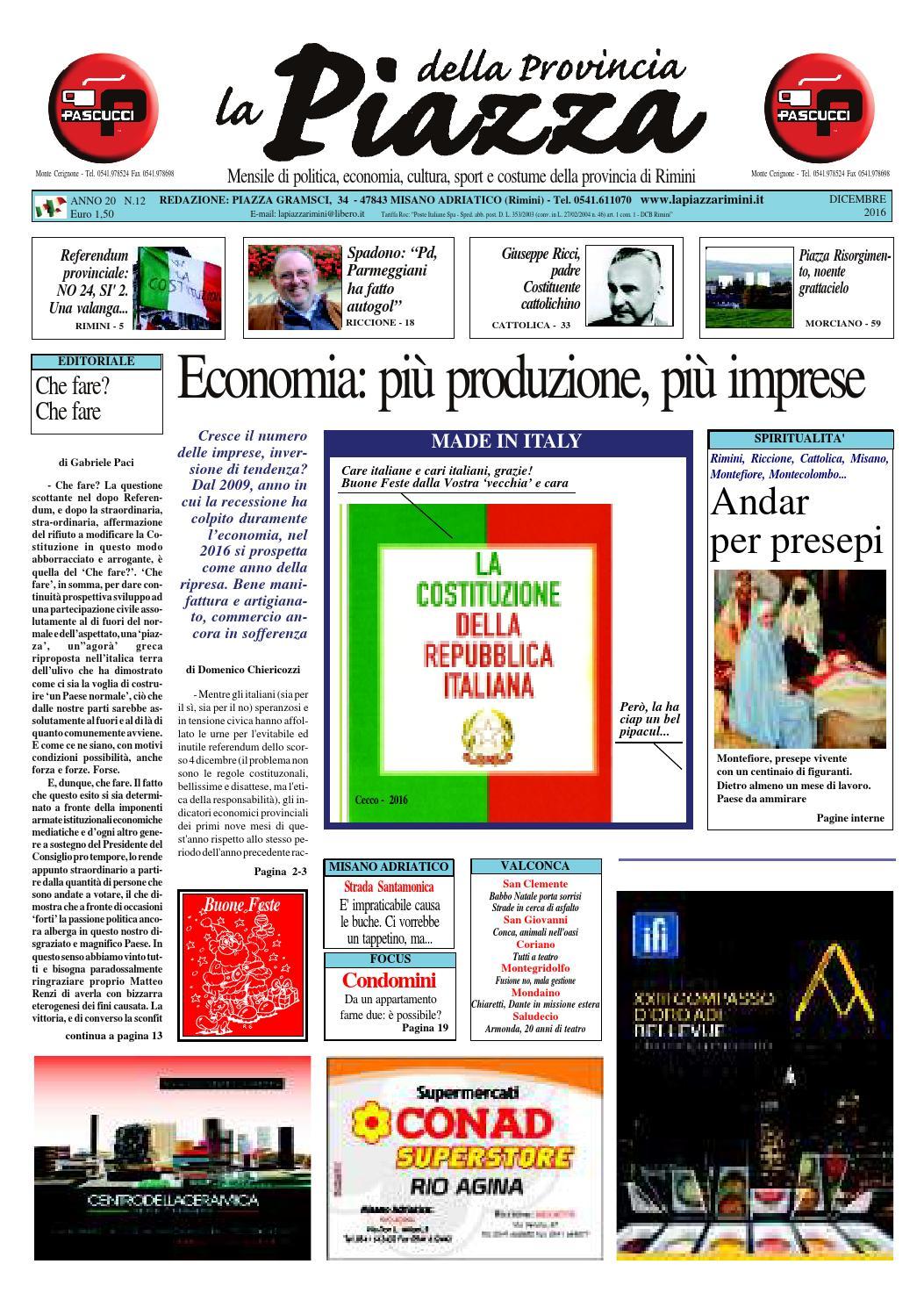 bb022bc59da38 Dicembre 2016 - La Piazza Rimini by La Piazza della Provincia - issuu